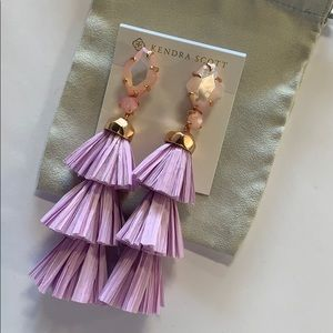 Denise earrings rose gold lilac mother of pearl